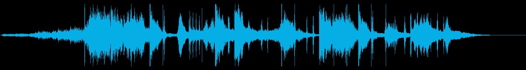 温かみのあるスタイリッシュなデジタルロゴの再生済みの波形