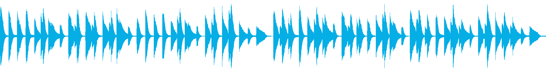 ループ可 ほのぼの料理・犬・散歩・日常の再生済みの波形