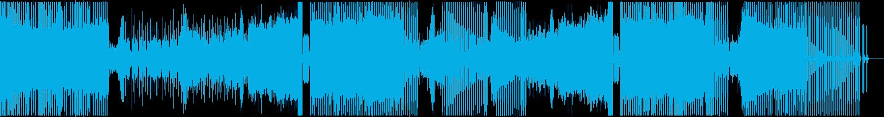 ヒップホップ風で暗めテイストのEDMの再生済みの波形