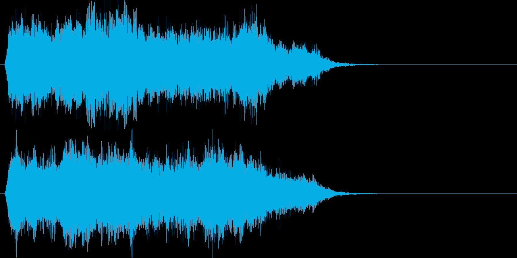 壮大なハリウッド系オーケストラのロゴの再生済みの波形