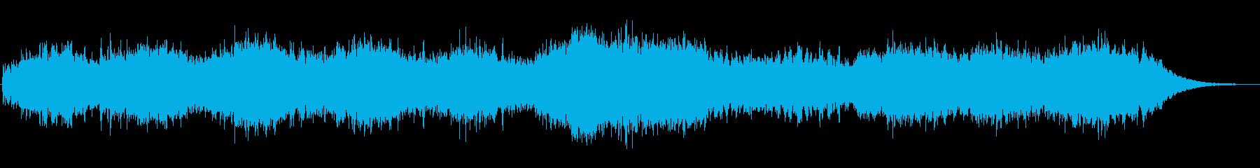 海の中をゆっくり進んでいくようなBGMの再生済みの波形