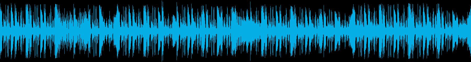 ゲームで選択しているときに流れるBGMの再生済みの波形