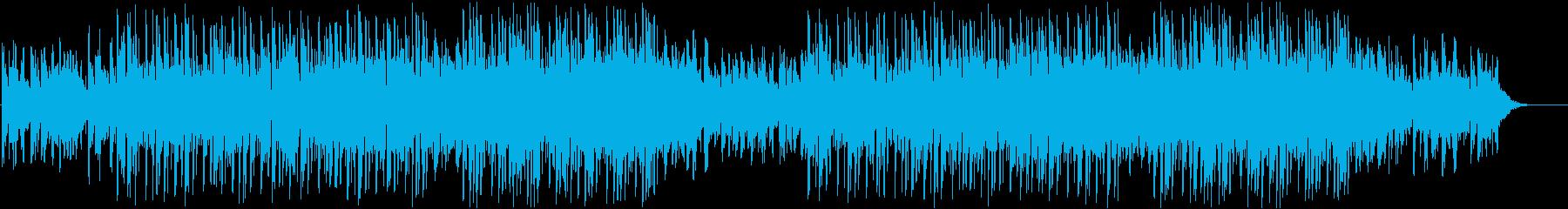 おしゃれな曲の再生済みの波形