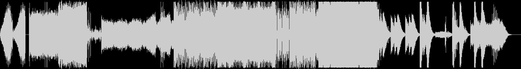 暗くインダストリアルなエレクトロの未再生の波形