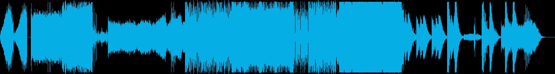 暗くインダストリアルなエレクトロの再生済みの波形