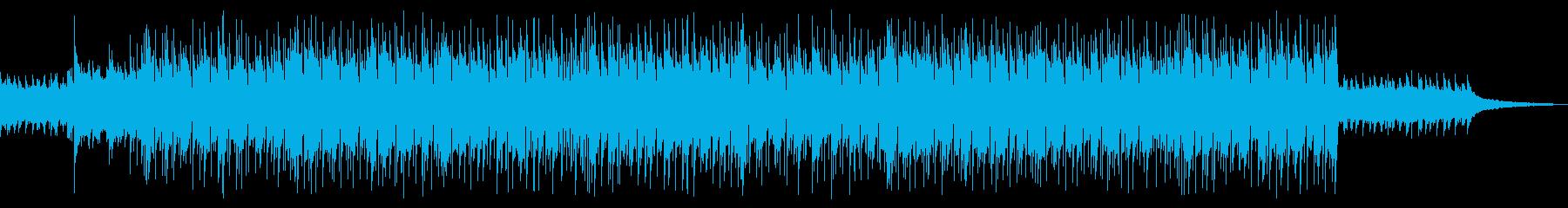 懐かしい感じのポップスの再生済みの波形