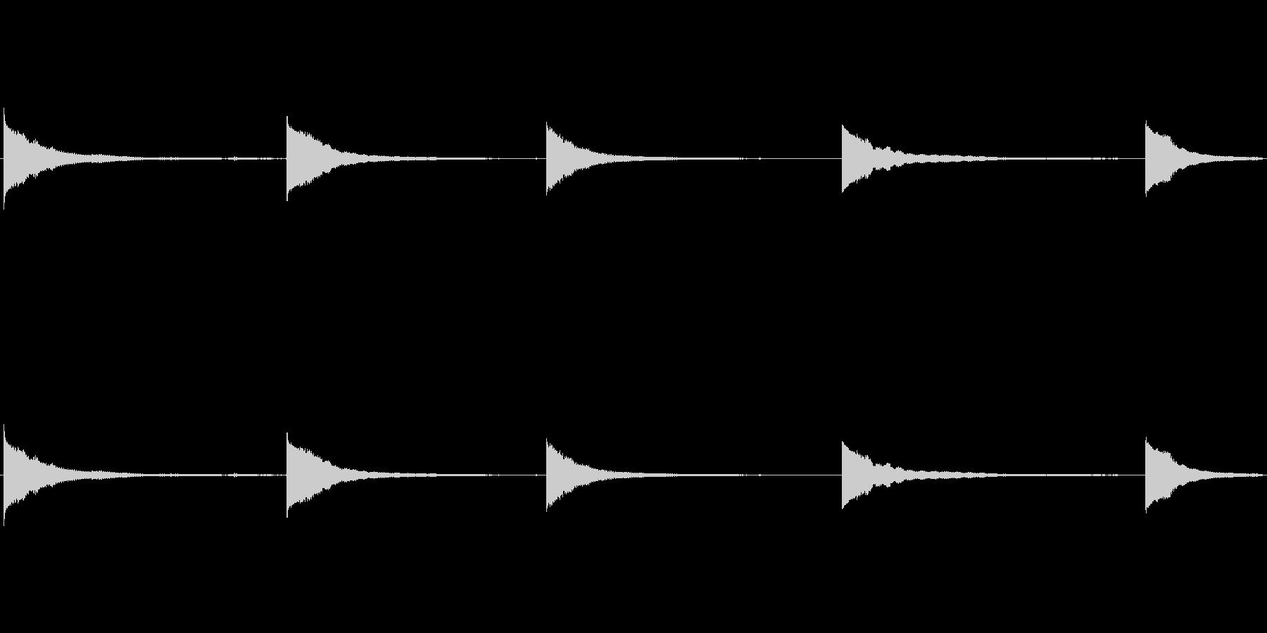 ロープ式ベルリングベルの未再生の波形