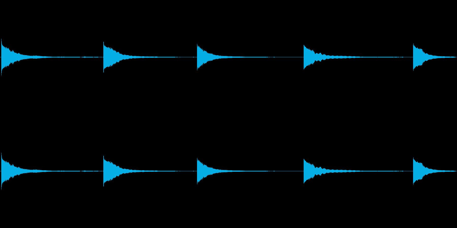 ロープ式ベルリングベルの再生済みの波形