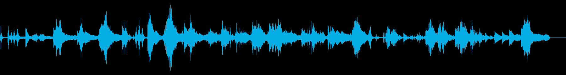 浮遊感のあるピアノソロの再生済みの波形