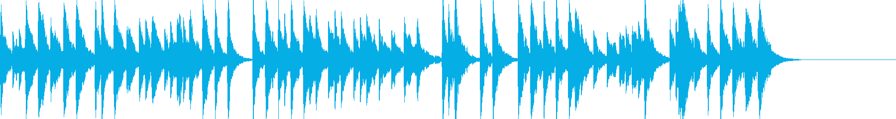 「スカボローフェア」オルゴールbpm86の再生済みの波形