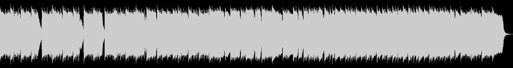 冬の雰囲気 シンセベル ヒーリングBGMの未再生の波形
