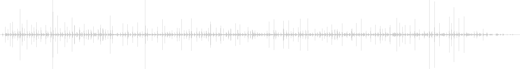 バイノーラル足音走るサンダル_前斜左の未再生の波形