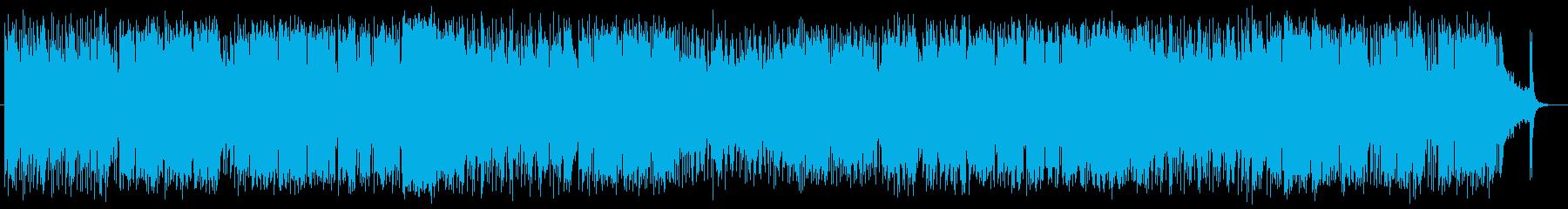明るく疾走感のあるシンセ・ギターサウンドの再生済みの波形
