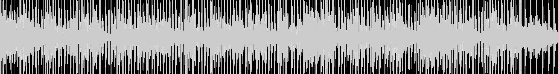 ダークな雰囲気のエレクトリックBGMの未再生の波形