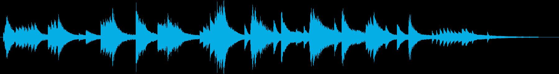 自由に演奏した甘美なジャズピアノジングルの再生済みの波形