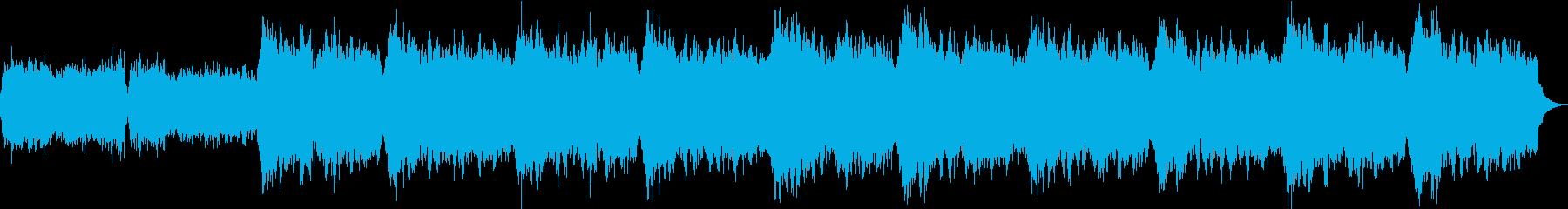 カウンセリングや音楽療法向けの安らぎ音楽の再生済みの波形