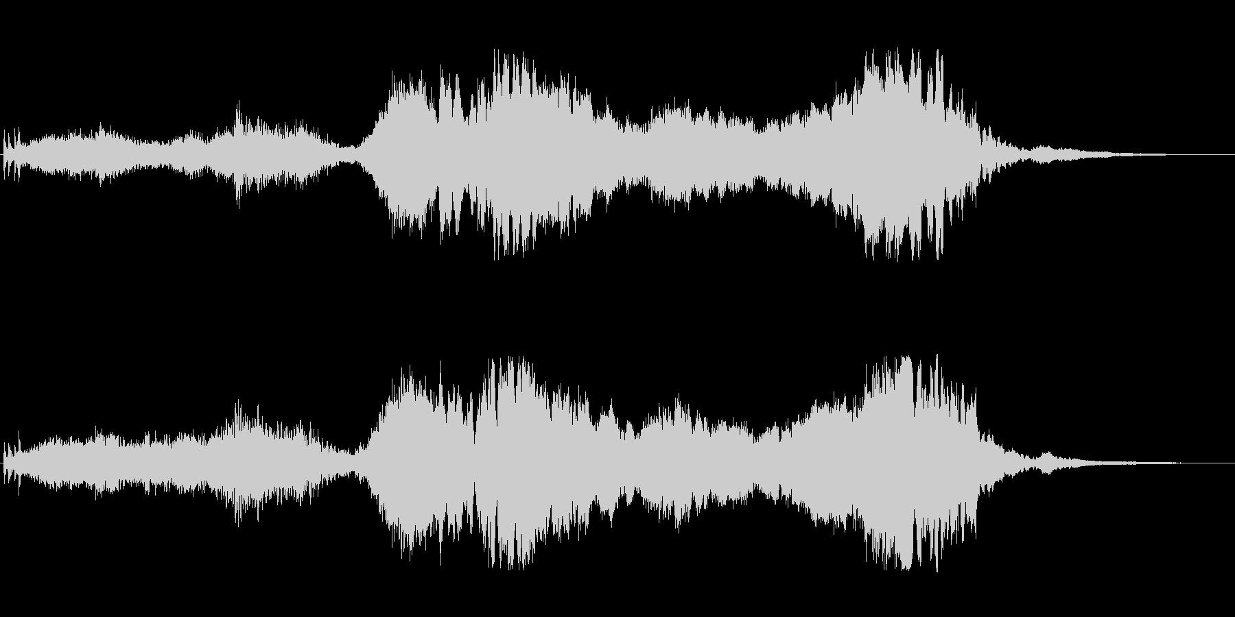 異空間がテーマのアイキャッチ音の未再生の波形