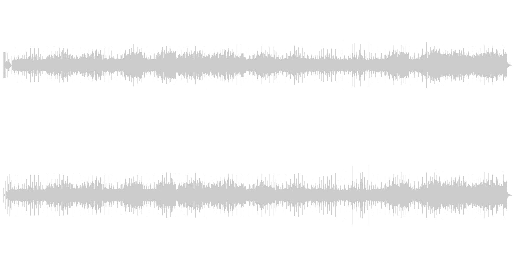 コミカルなテクノ・ポップ封の未再生の波形