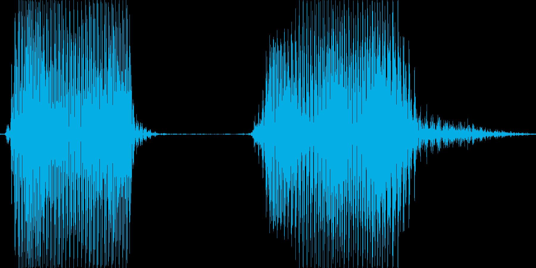 バッドの再生済みの波形