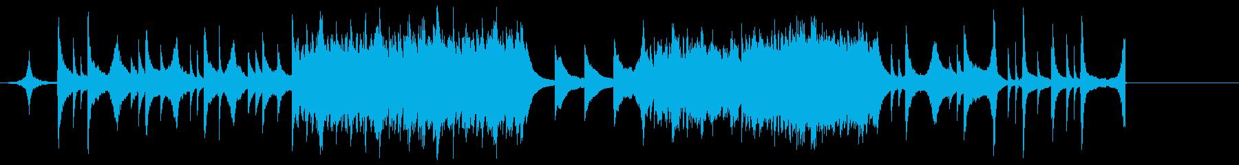 ピアノとストリングスのエモいバラードの再生済みの波形