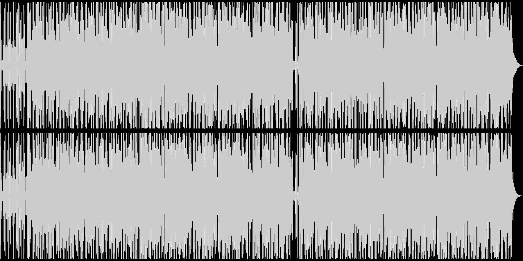 【雨音なし】心地良いヒーリングポップの未再生の波形