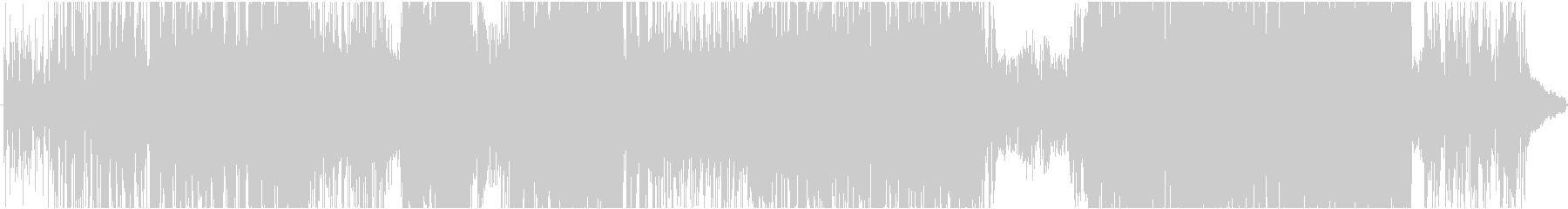 鋭いシンセサウンド、ブレイクビーツの未再生の波形