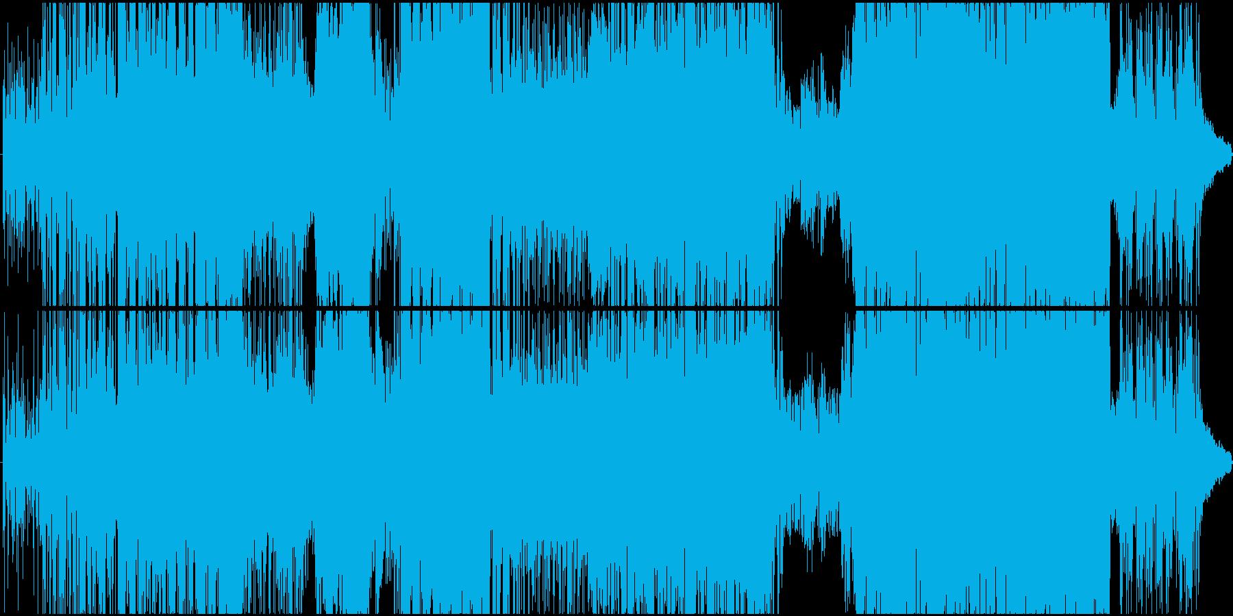 鋭いシンセサウンド、ブレイクビーツの再生済みの波形