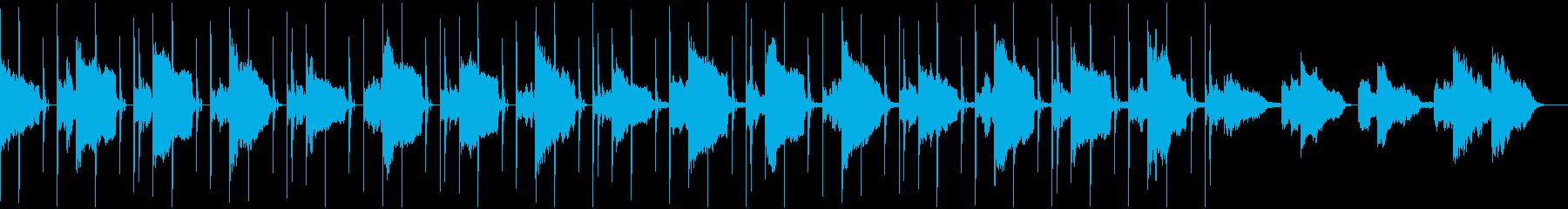 雨をイメージしたシンセサイザーの曲の再生済みの波形