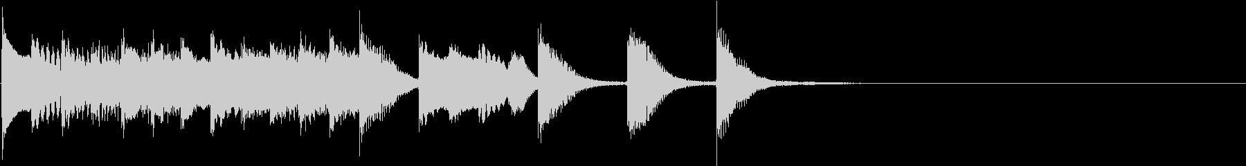明るく かわいいピアノサウンドロゴ02の未再生の波形