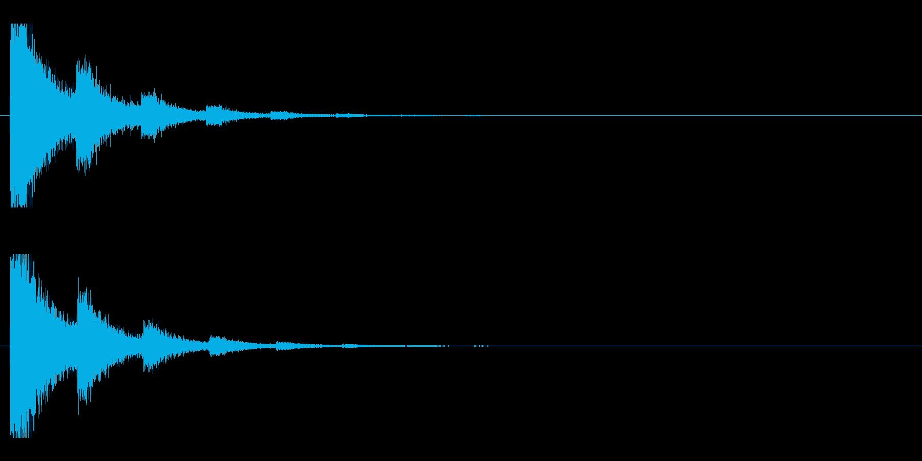 レーザー音-91-2の再生済みの波形