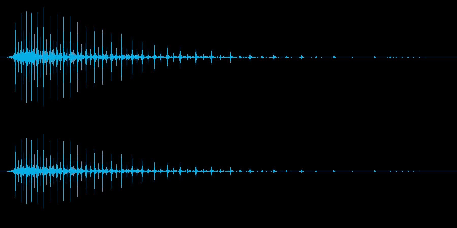 ぷんぷん怒るイメージの効果音_02の再生済みの波形
