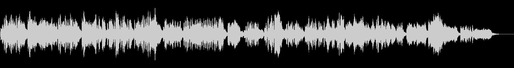 バロック風リコーダー四重奏の未再生の波形