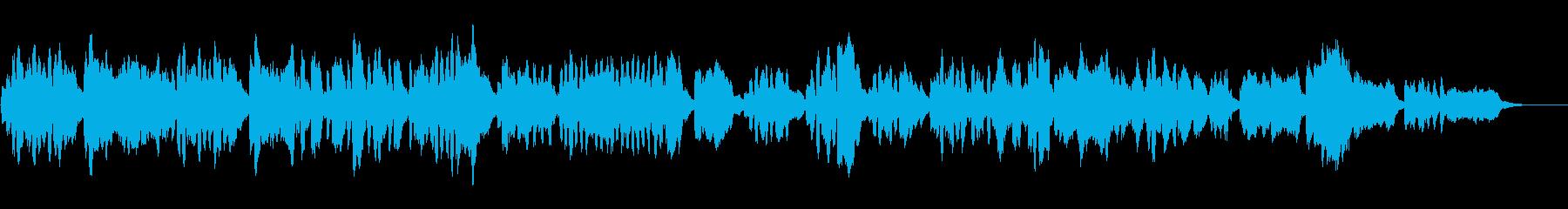 バロック風リコーダー四重奏の再生済みの波形