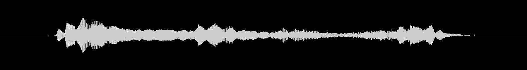 (おばけの話し声)の未再生の波形
