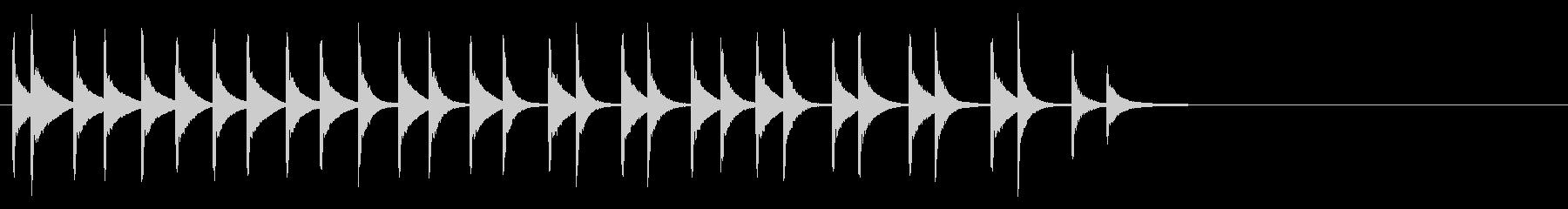 軽金属カウベル:安定したラトル、ベ...の未再生の波形