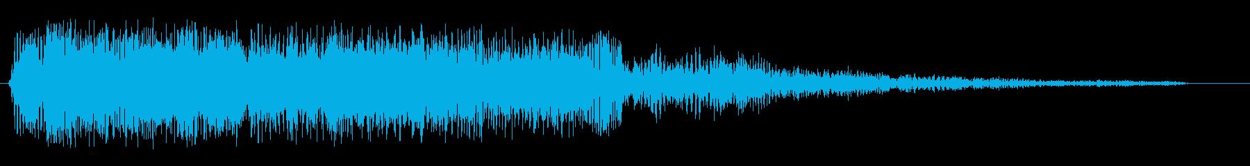 ビヨヨヨヨ〜ン(コミカルな効果音)の再生済みの波形