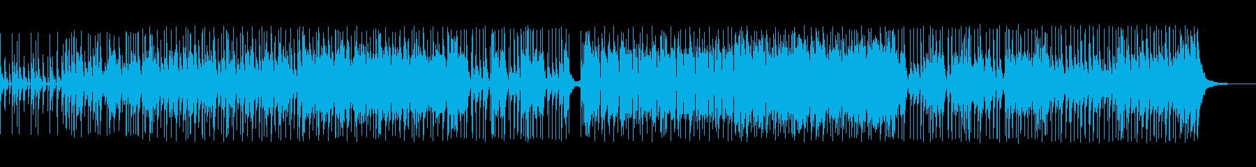 ドラムのキックが効いた不思議なテクノの曲の再生済みの波形