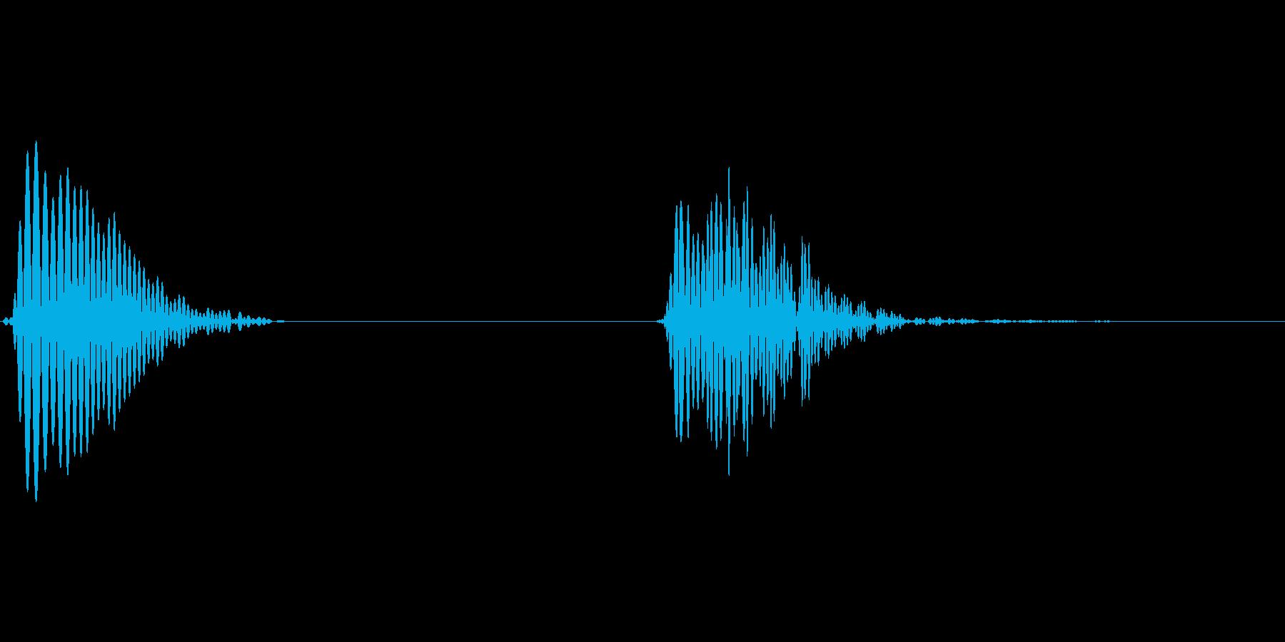 アプリ用汎用タップ音の再生済みの波形