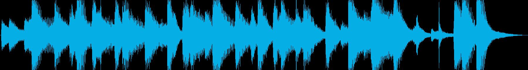 緩やかで可愛いジングル・アイキャッチの再生済みの波形