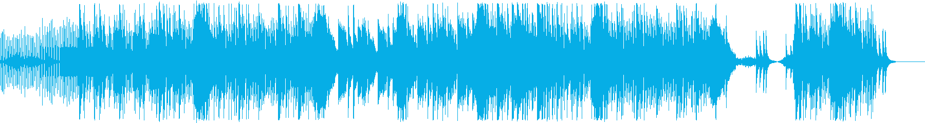 エレガントなピアノ&EDM風BGMの再生済みの波形