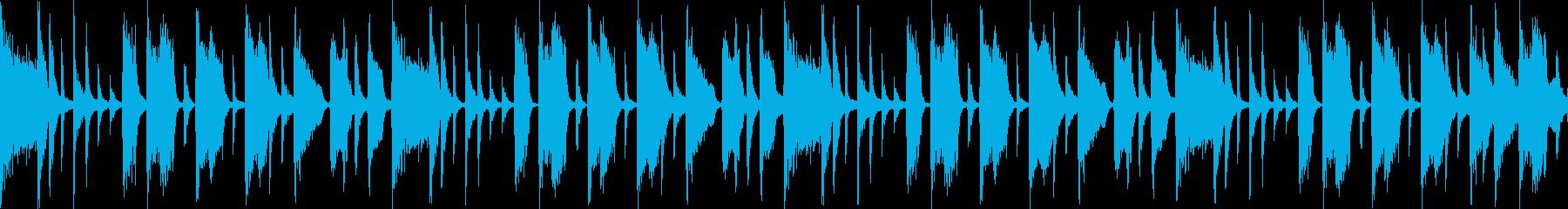 ほのぼのとしたダウンテンポなファンクの再生済みの波形