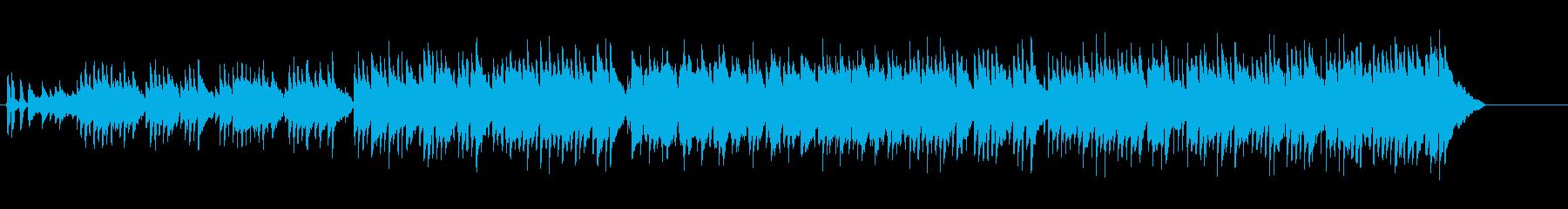 デリケートなアコースティック・ギターの再生済みの波形