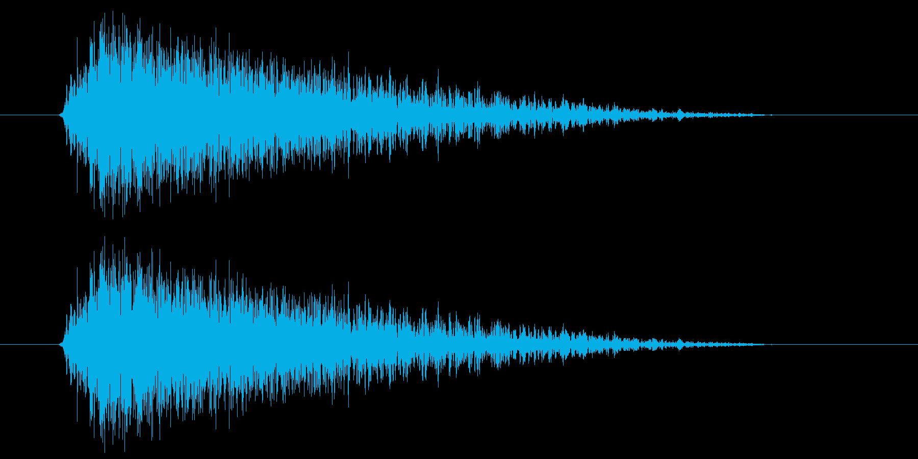 ビュー(強い風の音) 01の再生済みの波形