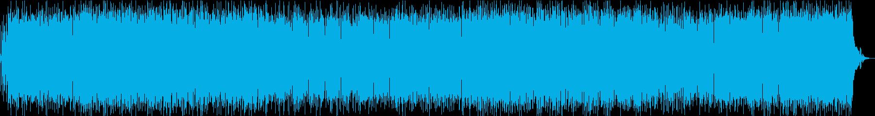 疾走感溢れる攻撃的なヘヴィメタルの再生済みの波形