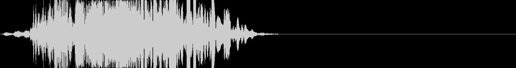 重いパンチ(映画風、顔面を殴打)の未再生の波形