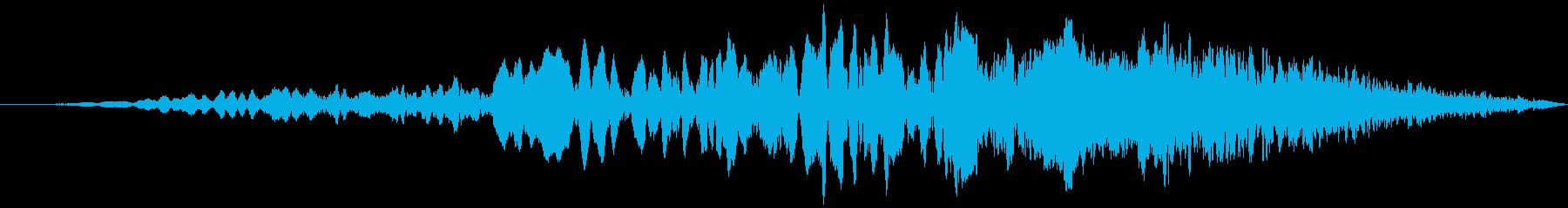 車 レース ブレーキ/タイヤスキール音6の再生済みの波形