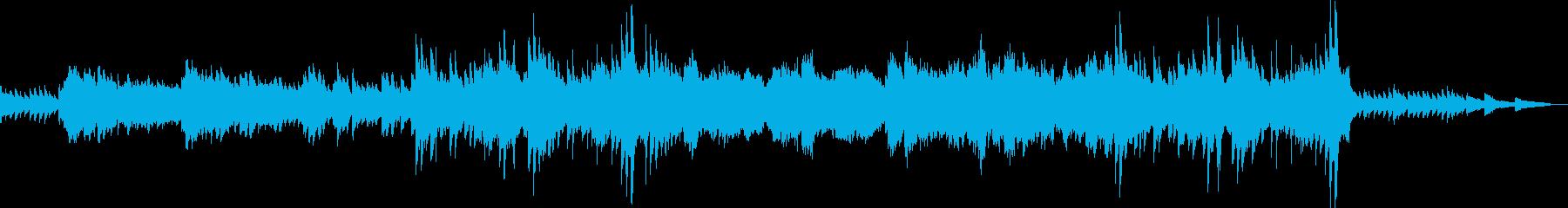 オルゴールのようなピアノが印象的な曲の再生済みの波形