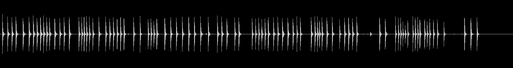 木の板のハンマーの未再生の波形