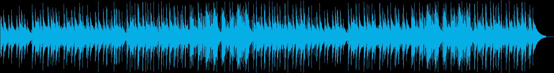 森の中のような癒されるヒーリングBGMの再生済みの波形