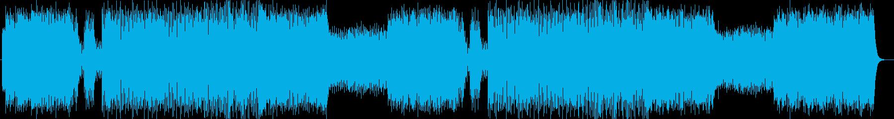 軽快でベースとドラムが印象的なロックの再生済みの波形